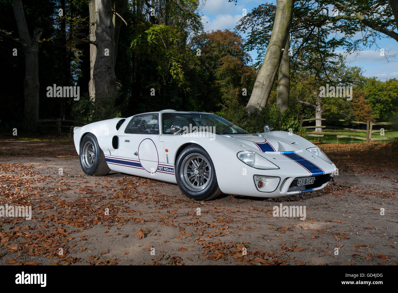 A continuation Ford GT40 MkII built in 2009 but recognised as a genuine GT40 and not a copy or reproduction - Stock Image