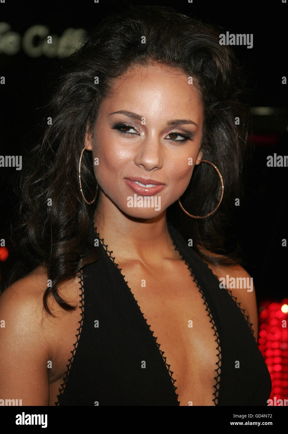 Alicia Keys at the LA premiere of 'Smokin' Aces' held at the Grauman's Chinese Theatre in Hollywood, - Stock Image