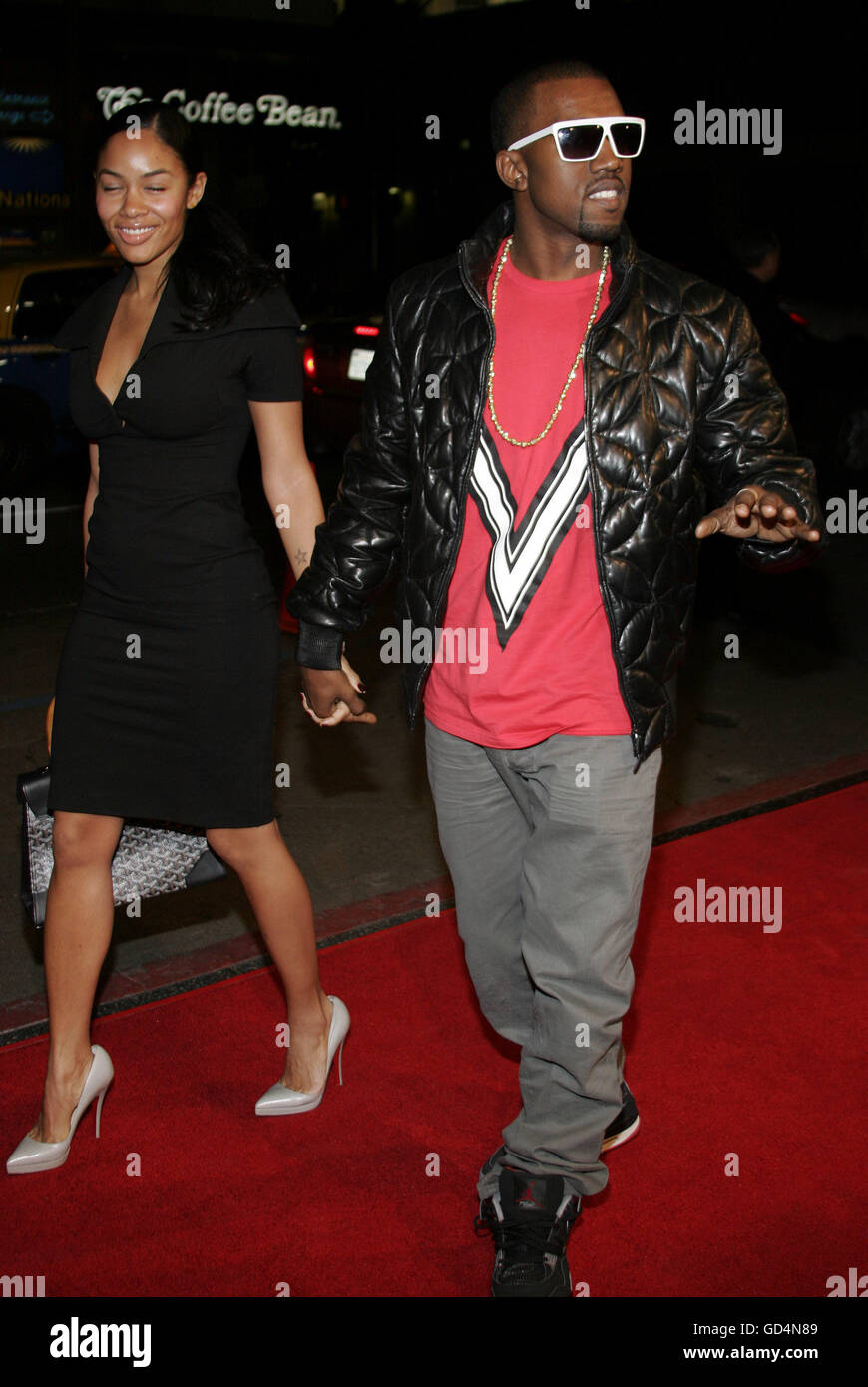 Kanye West at the LA premiere of 'Smokin' Aces' held at the Grauman's Chinese Theatre in Hollywood, - Stock Image