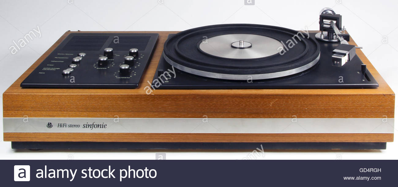 technics, audio, record player Hi-Fi stereo system with amplifier 'Sinfonie', made by and design: Kurt Ehrlich, - Stock Image