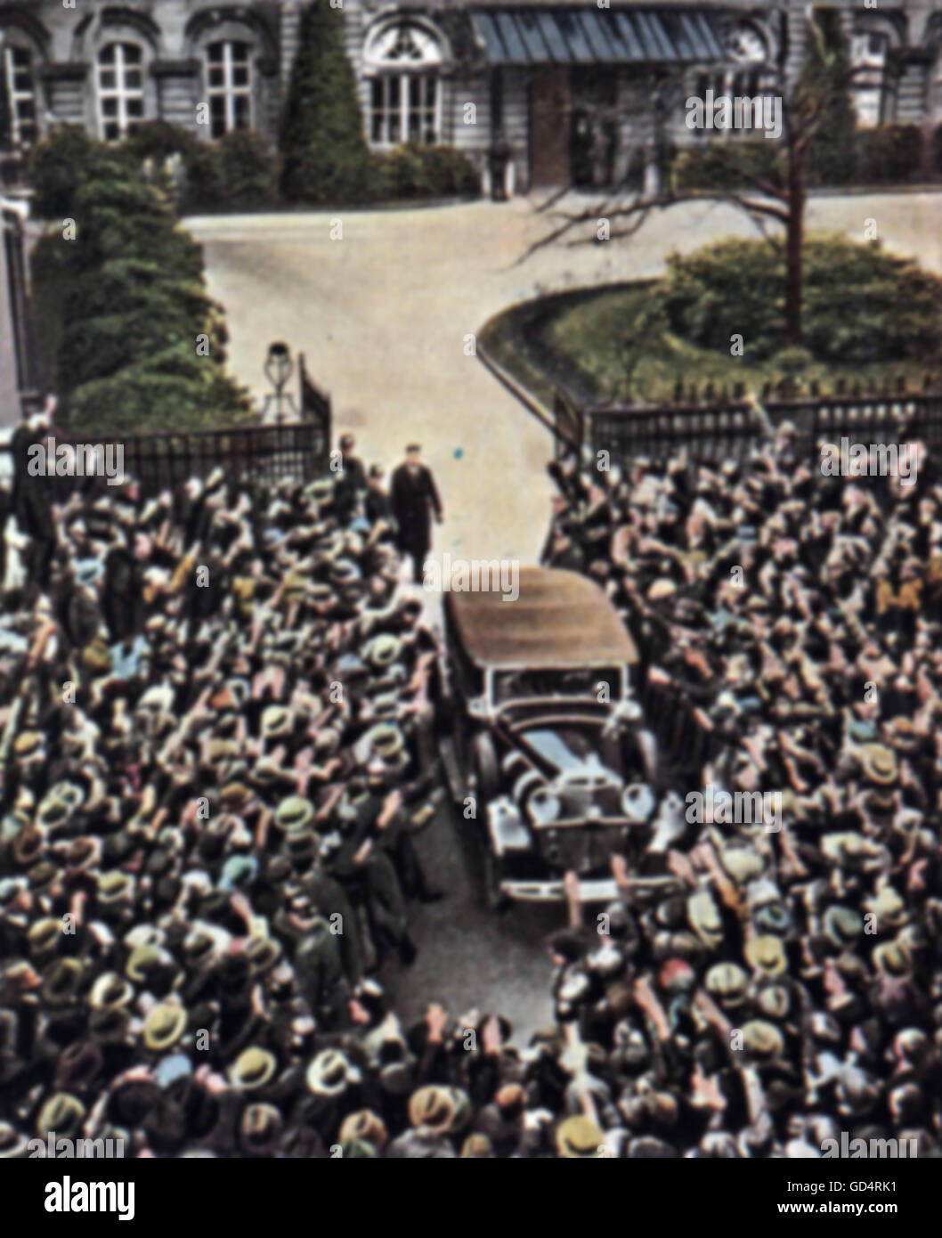 Nazism / National Socialism, Nazi seizure of power, Adolf Hitler leaving the Palais of the President of the Reichs - Stock Image