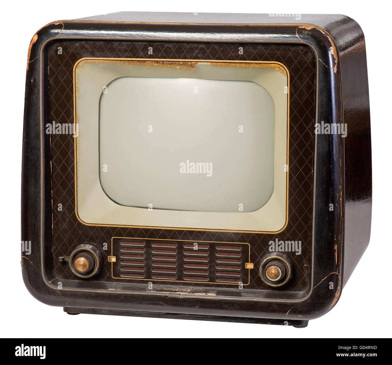 broadcast, television, Grundig, 210, first German television set for less than 1000 mark, Germany, 1953, tabletop - Stock Image