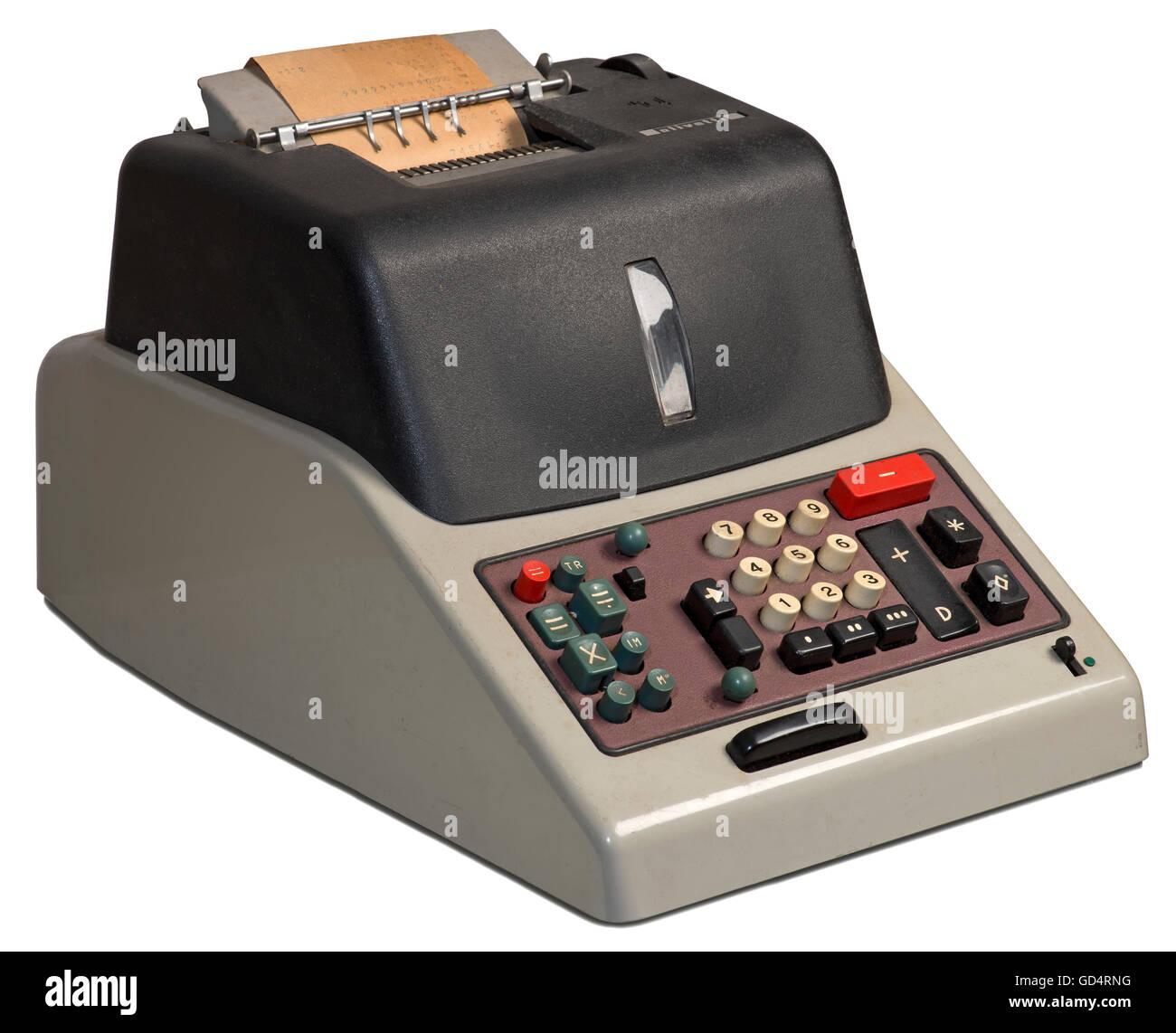 computer / electronics, calculating machine Olivetti Divisumma 24, constructor: Natale Capellaro (1902 - 1977), - Stock Image