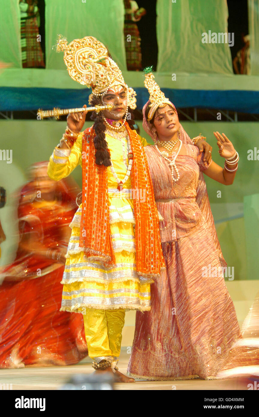 Radha and Krishna - Stock Image