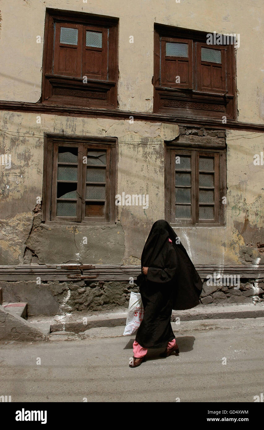 Woman in burqah - Stock Image