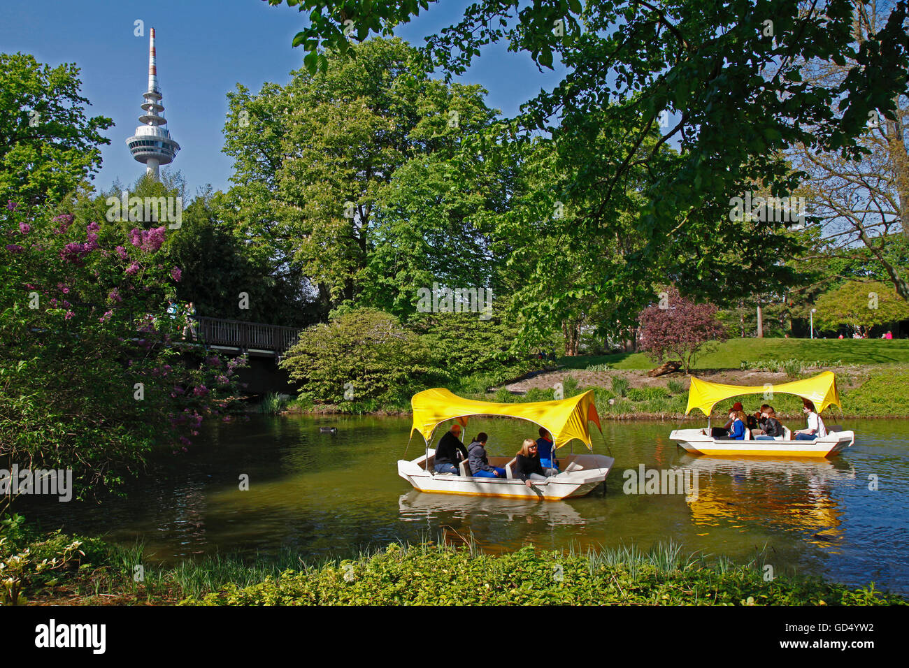 Gondoletta Boats Kutzer Pond TV Tower Luisenpark