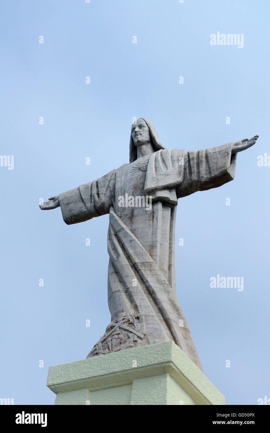 Christus-Statue, Kuenstler Serraz Georges, Ponta do Garajau, Funchal, Madeira, Portugal, Europa, Christusstatue, Stock Photo