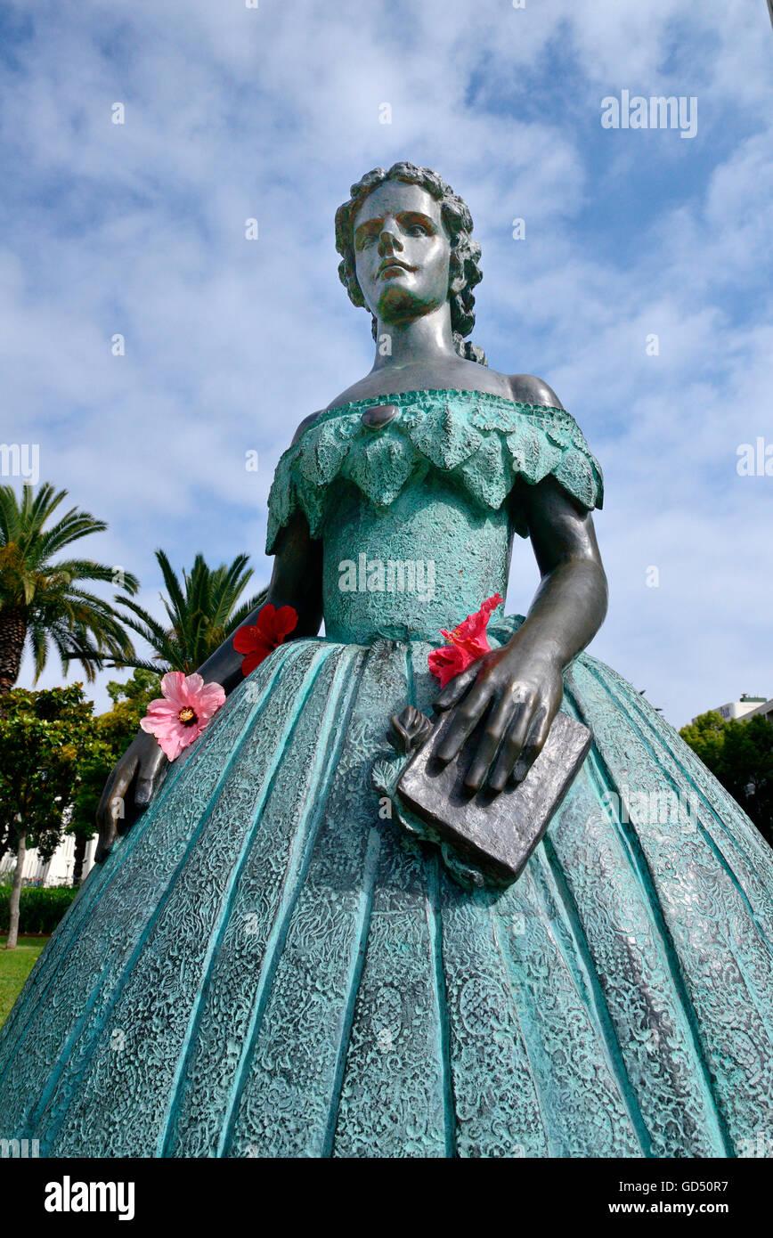 Memorial for empress Elisabath of Austro-Hungary, Funchal, Madeira, Portugal - Stock Image