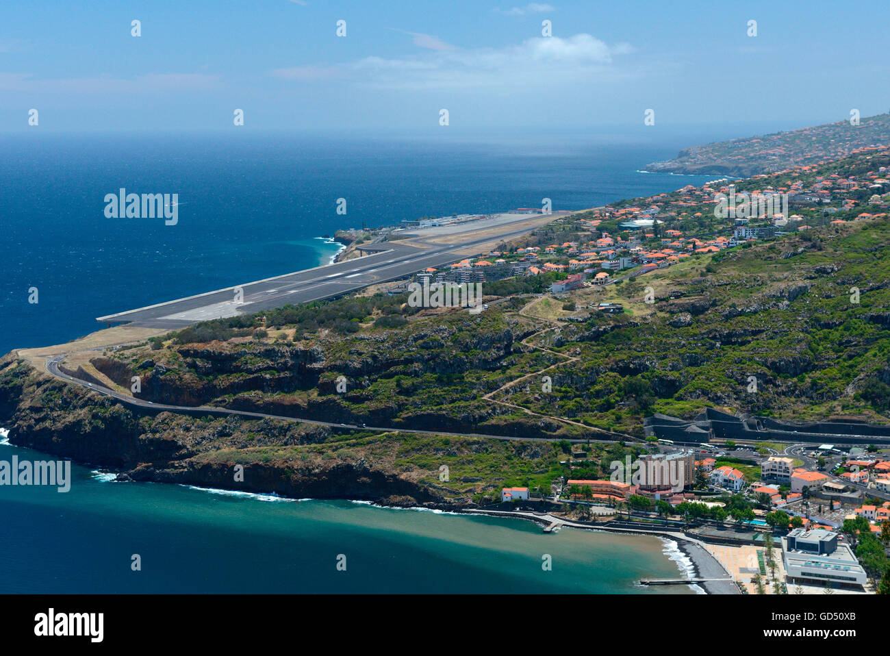 Funchal, Flughafen, Airport, Madeira, Portugal - Stock Image