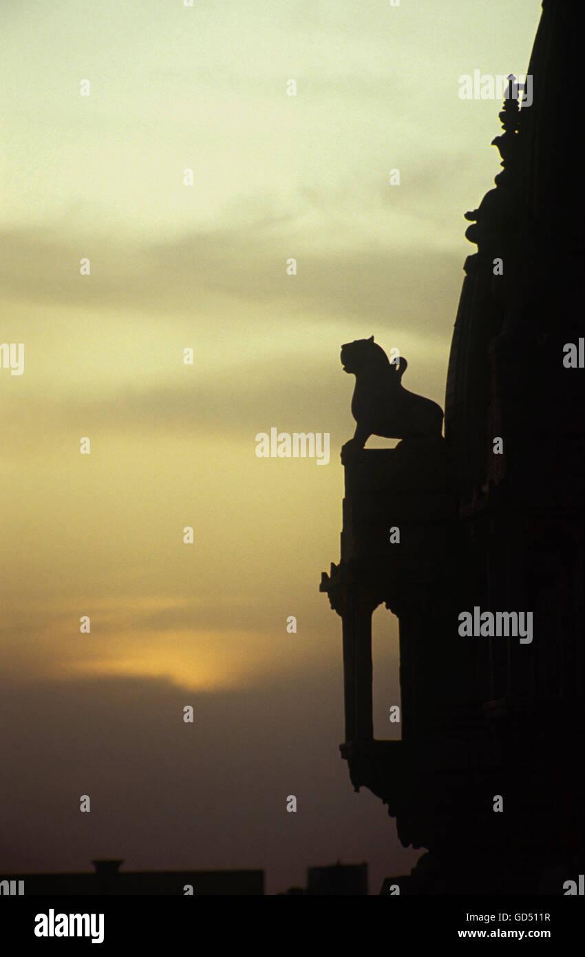 Evenings at Shree Mahaveerji temples - Stock Image