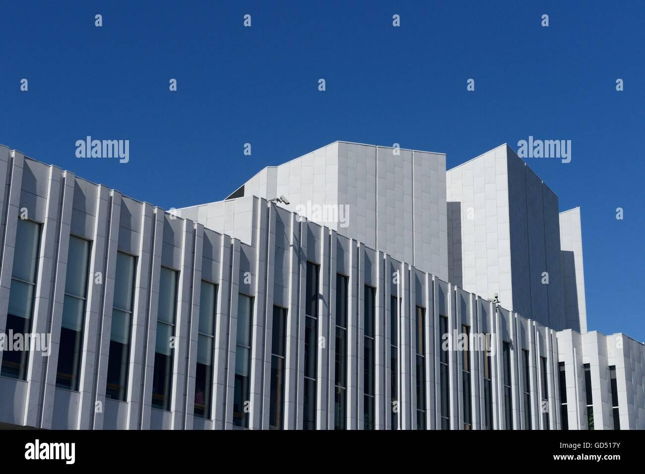 Finnlandia-Halle, weisser Marmor, Architekt Alvar Aalto, Helsinki, Helsinki, Finnland - Stock Image