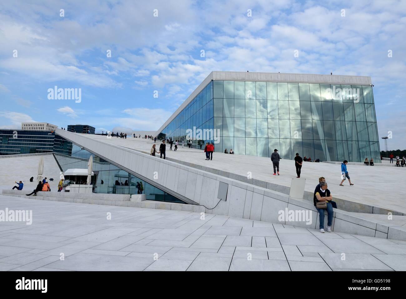 Neue Oper, Oslo, Norwegen, Europa, - Stock Image