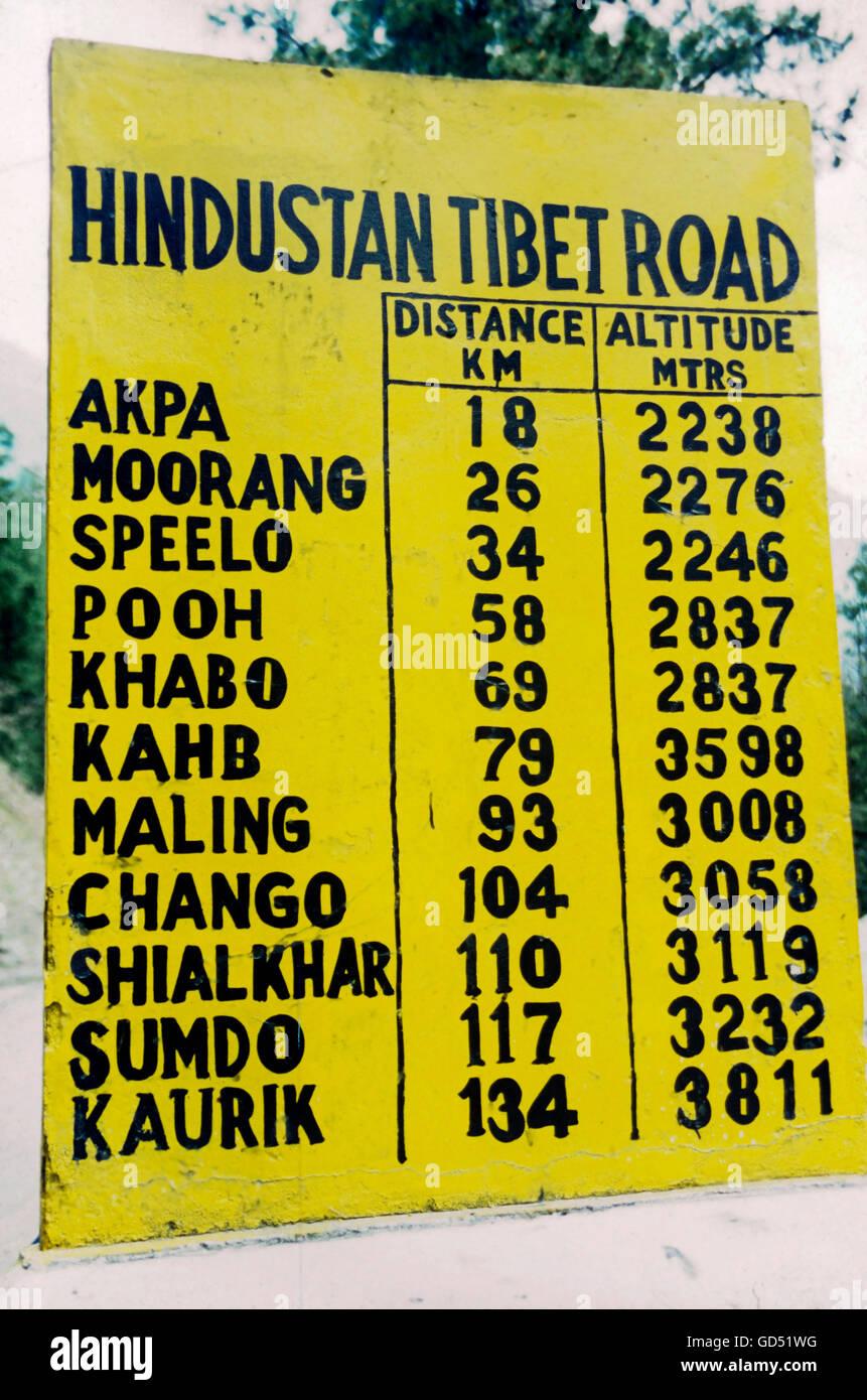 Hindustan Tibet road - Stock Image