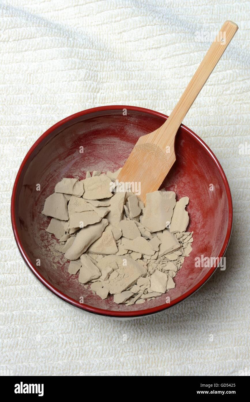 dried healing earth - Stock Image