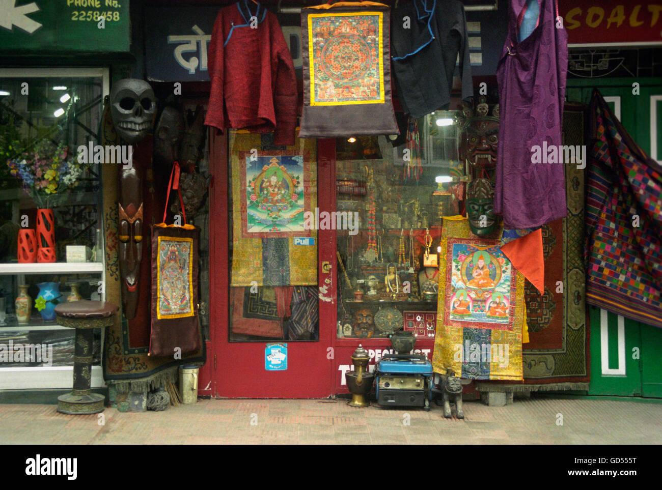 A shop at Darjeeling Mall road - Stock Image