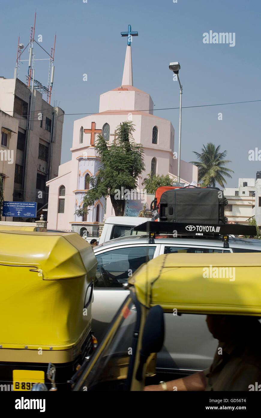 Church in Shivaji Nagar - Stock Image