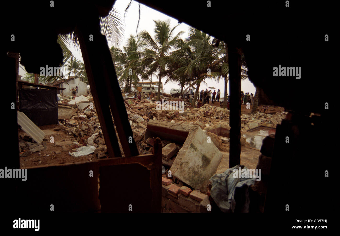 Aftermath of the tsunami - Stock Image