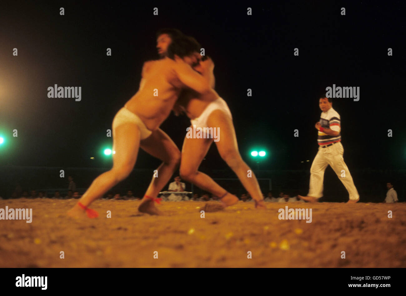 Wrestlers practising - Stock Image