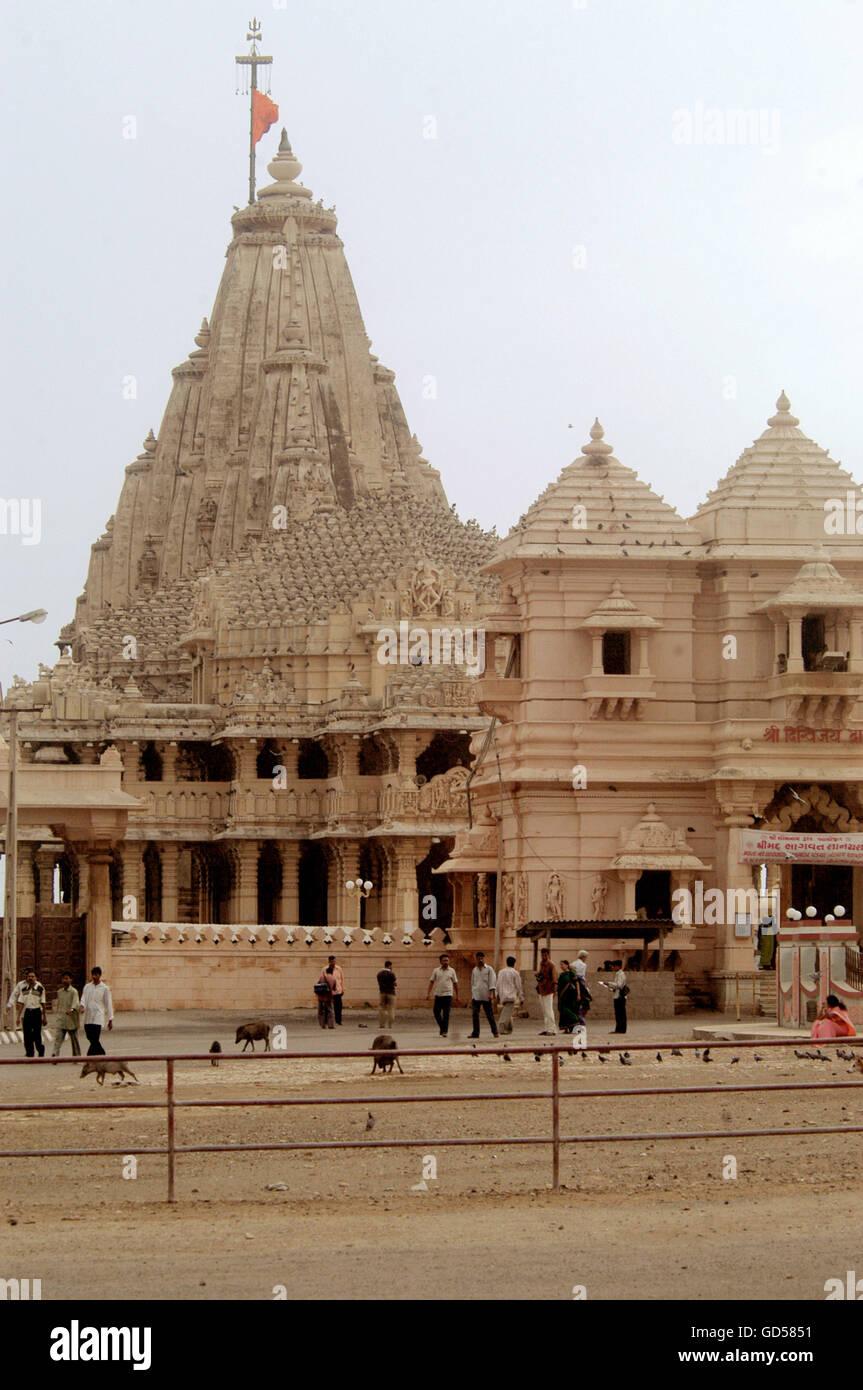 Somnath temple - Stock Image