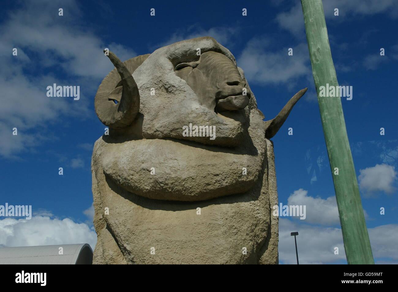 Big Merino Goulburn Australia - Stock Image