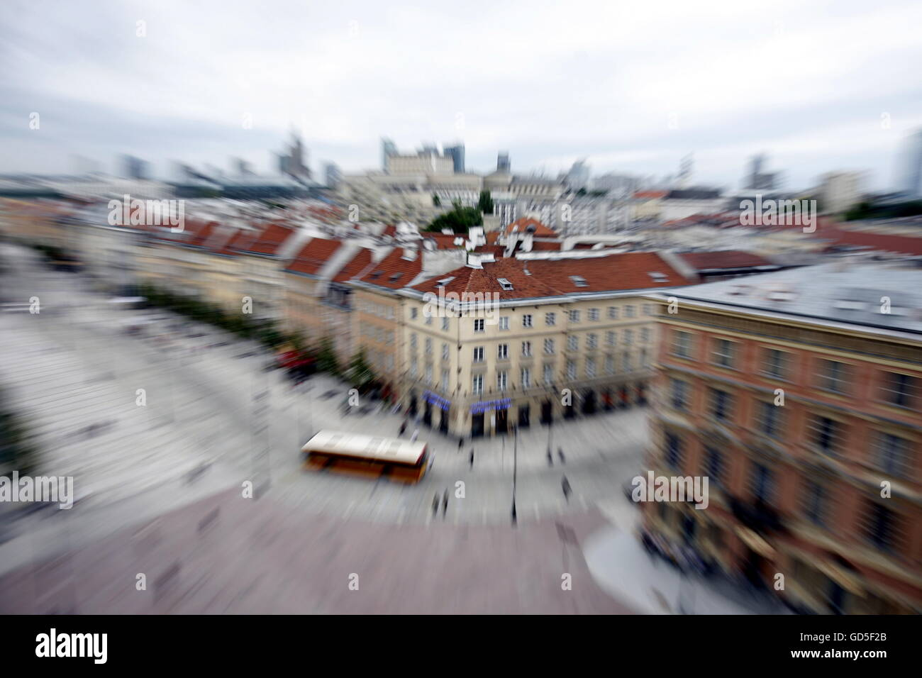 the old town in the City of Warsaw in Poland, East Europe. - Stock Image