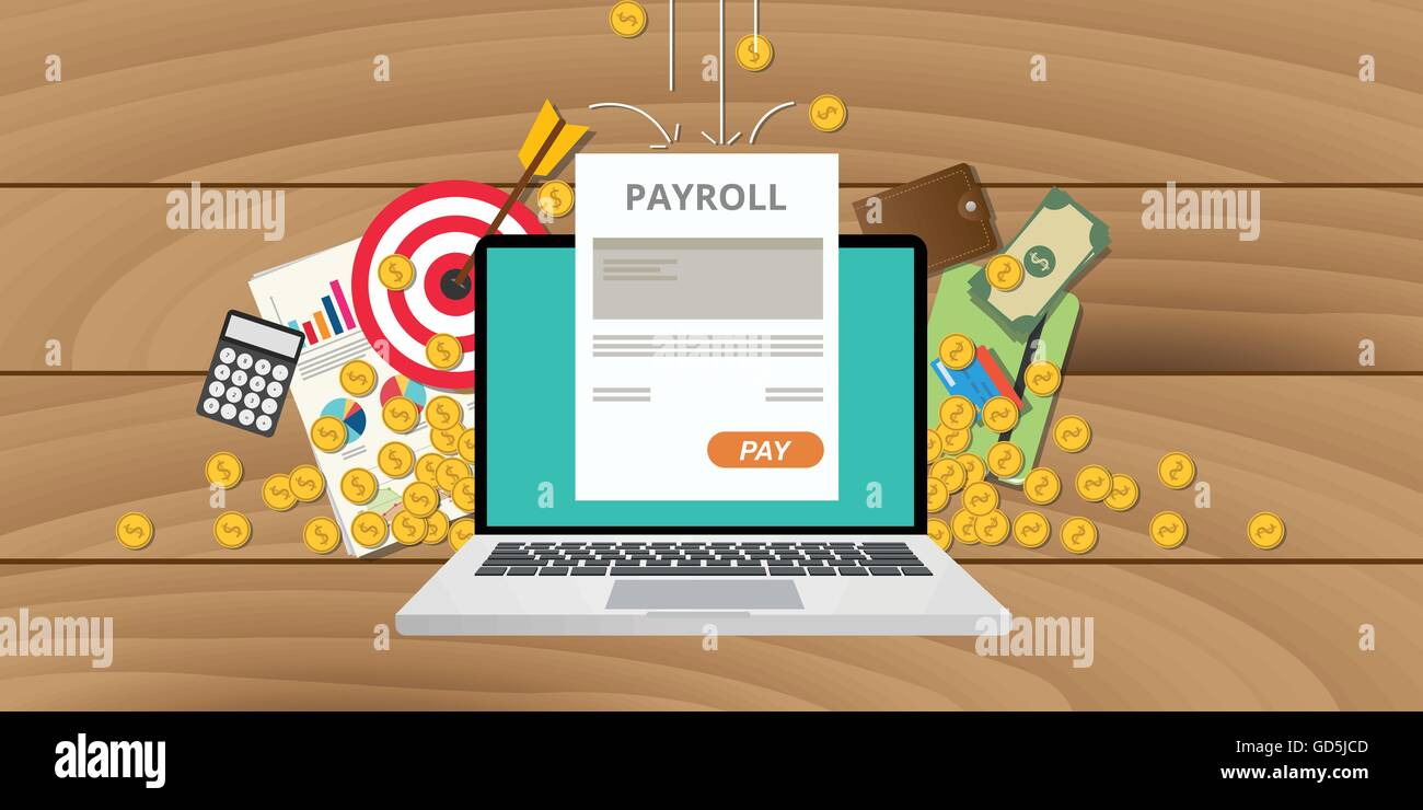payroll wages money salary calculator accounting icon