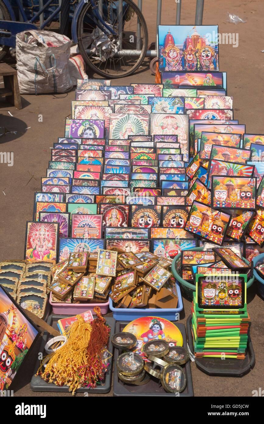 Laminated photo frame kept for sell, puri, orissa, india, asia - Stock Image