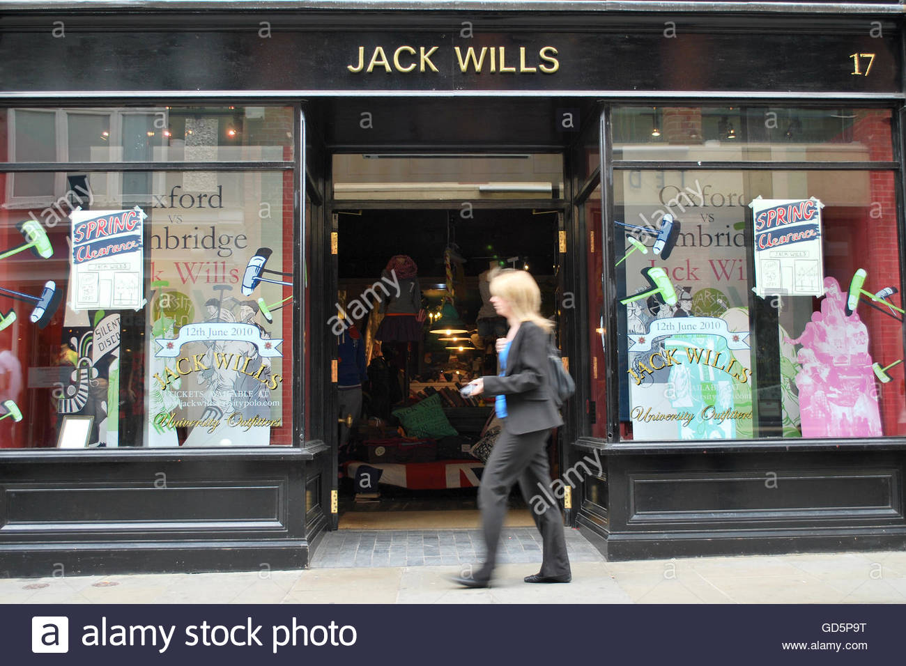 File photo dated 25/05/10 of a Jack Wills store, as the retailer is making a round of redundancies as part of a - Stock Image