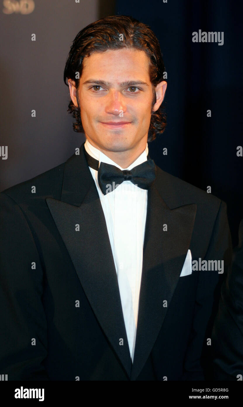 PRINCE CARL PHILIP at The annual Sports gala - Stock Image