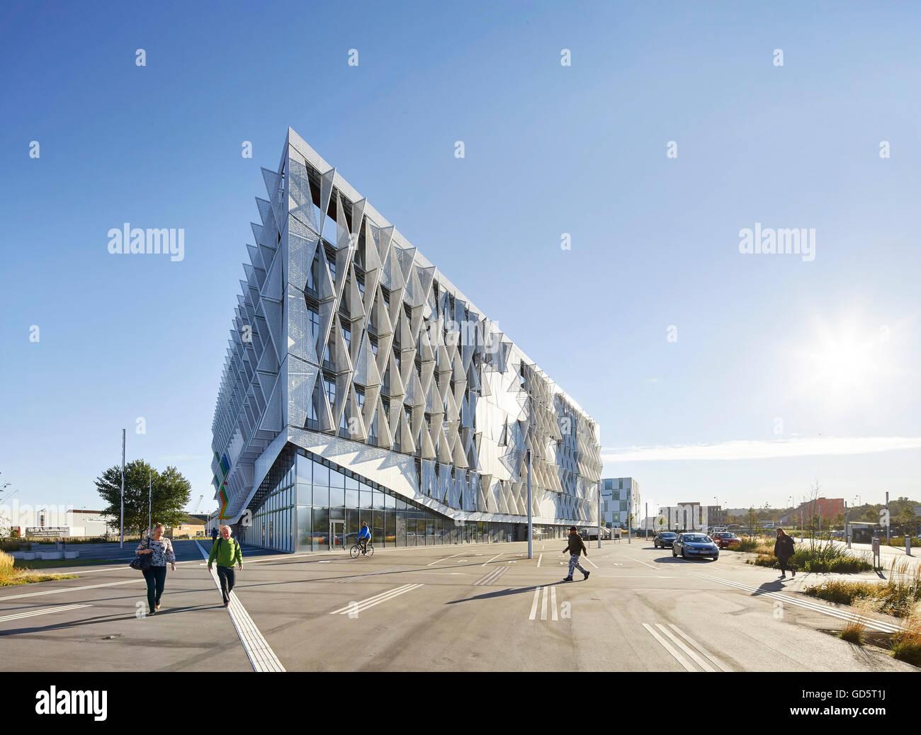 The triangular facade stock photos the triangular facade for Triangular structures in architecture