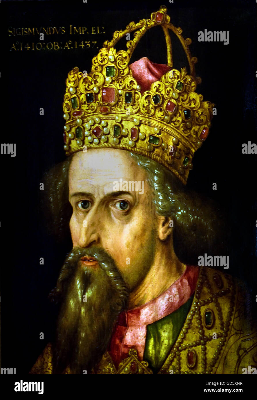 Charlemagne in his coronation with the imperial crown Albrecht Dürer 1471-1528  Charlemagne Karl was to 747, the Stock Photo