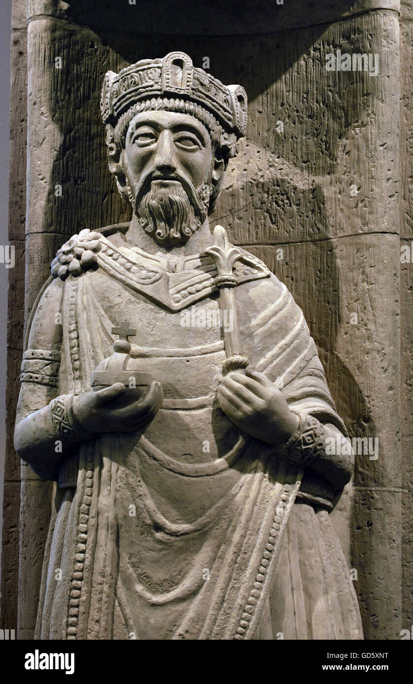 Charlemagne Karl was to 747, the son of the mayor of the palace Pepin the Younger Later the king of the Franks. - Stock Image