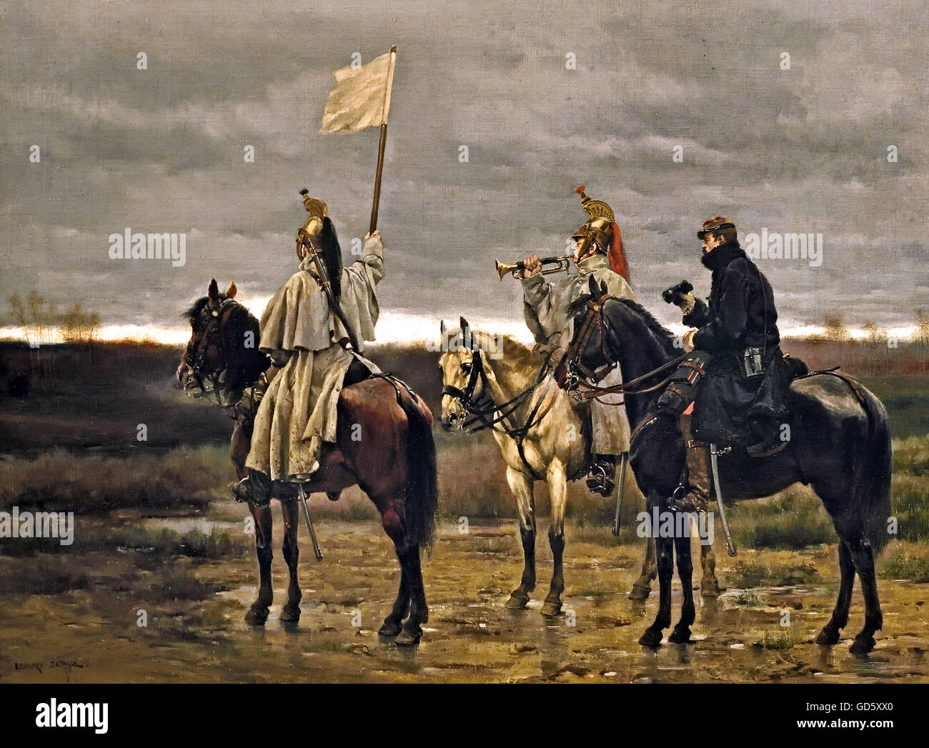 The Armistice of 28 January 1871 The Franco-Prussian War or Franco-German War (German: Deutsch-Französischer Krieg, French: Guerre franco-allemande), often referred to in France as the War of 1870 (19 July 1870 – 10 May 1871), was a conflict between the Second French Empire of Napoleon III and the German states of the North German Stock Photo