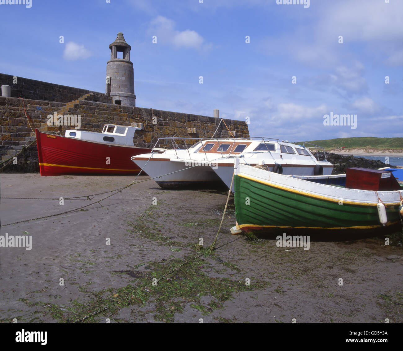 Port Logan Pier, Dumfries & Galloway,S/W  Scotland - Stock Image