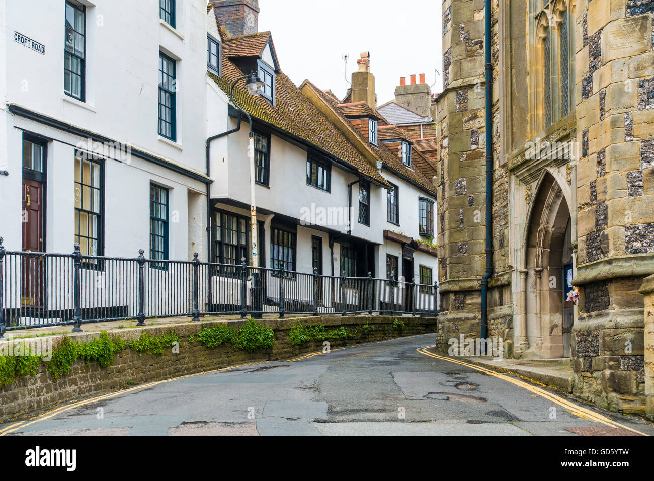 Croft Road Hastings Old Town East Sussex England - Stock Image