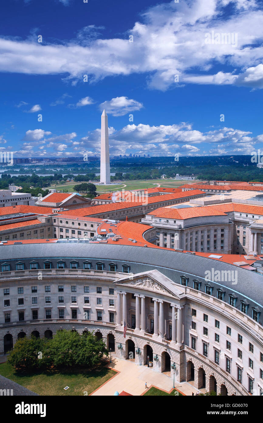 The federal triangle in  Washington DC - Stock Image