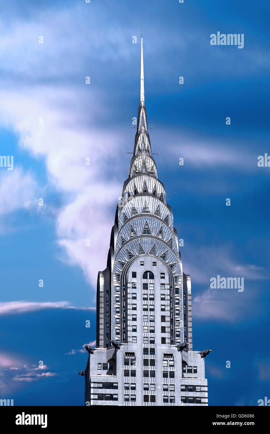 The Chrysler building in New York City - Stock Image