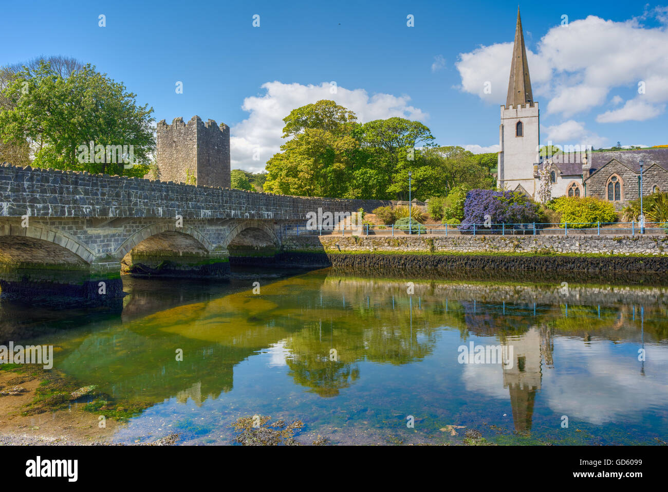 Glenarm (Irish: valley of the army). a village dating back to Norman times set in a Conservation Area, Northern - Stock Image