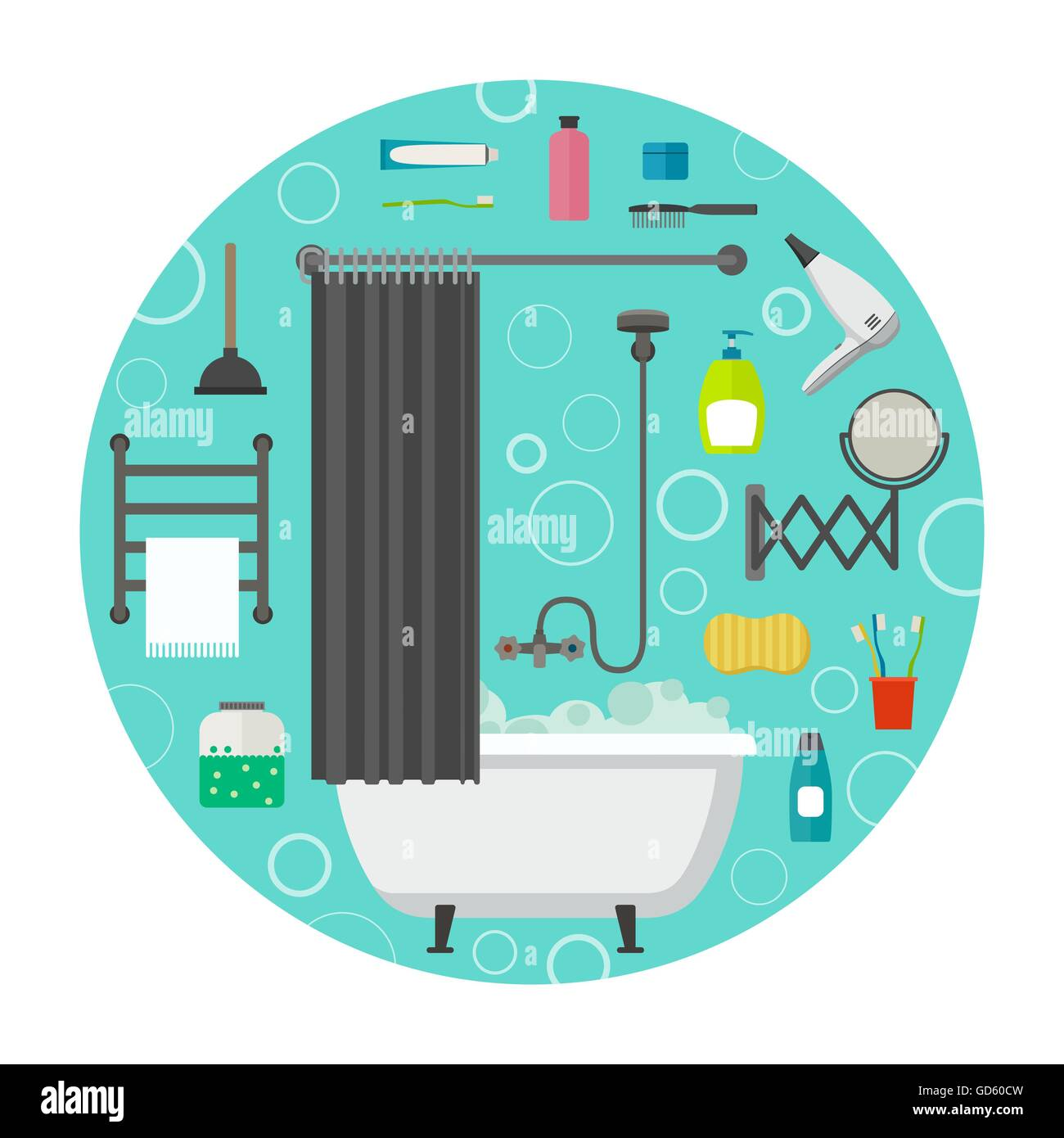 Hygiene vector icons - Stock Image