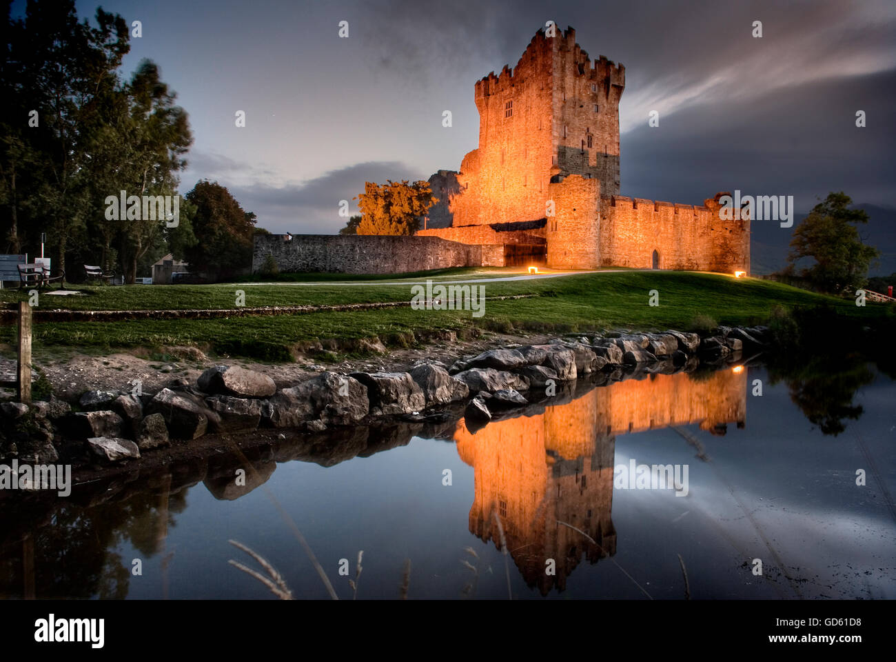 Ross Castle, Lough Leane, Killarney National Park, Co Kerry, Ireland - Stock Image