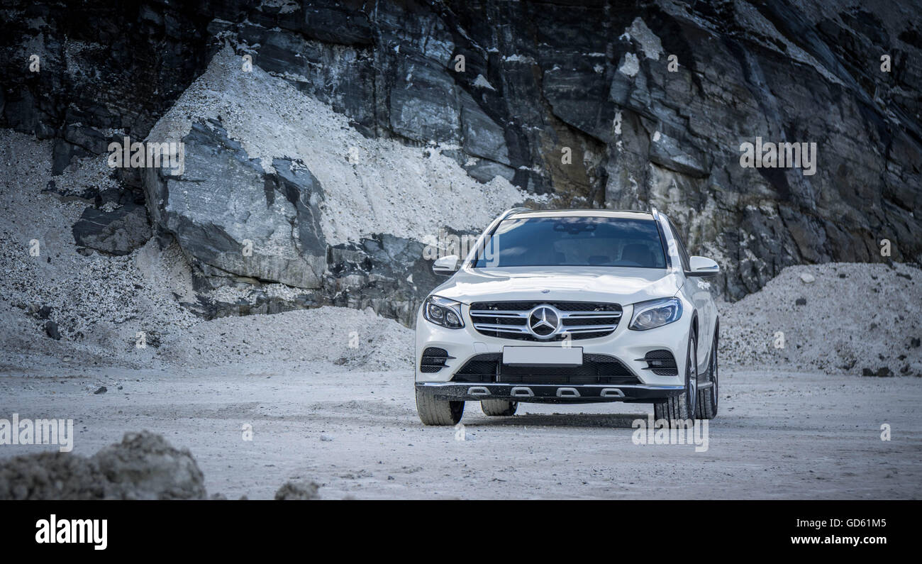Mercedes GLC front - Stock Image