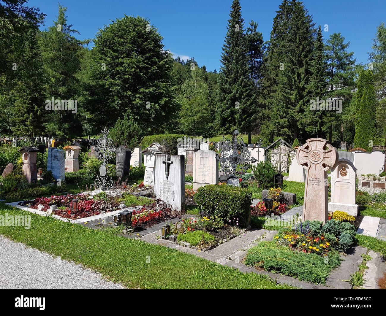 Bergfriedhof, Berchtegaden, Oberbayern - Stock Image