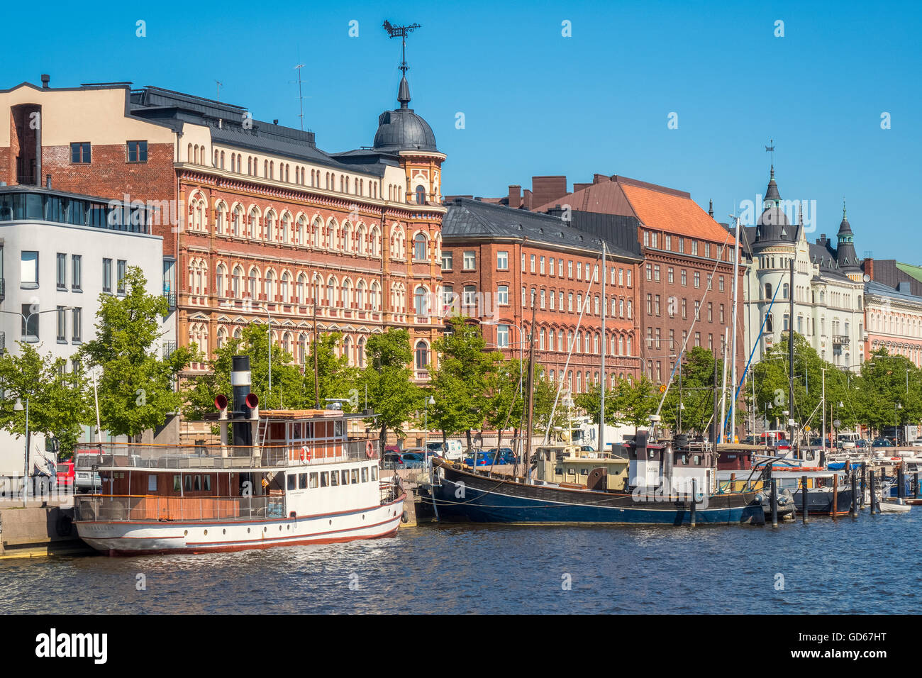 View Across The North Harbour Helsinki Finland Stock Photo