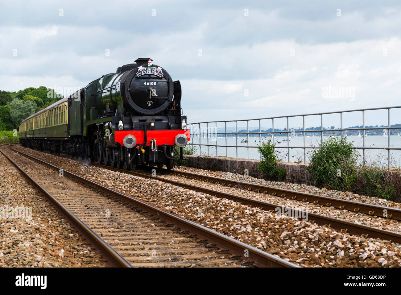 Royal Scot on location near Exeter - Stock Image