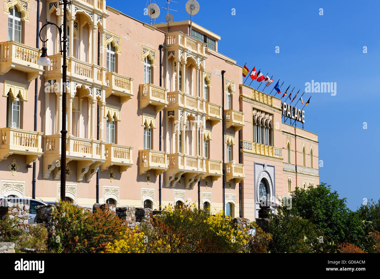Excelsior Palace Hotel in Taormina, Sicily, Italy - Stock Image
