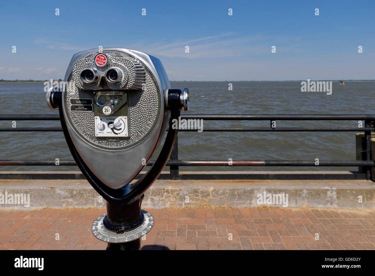 Tower Viewer -Tourist Binoculars Stock Photo: 111394723 ...