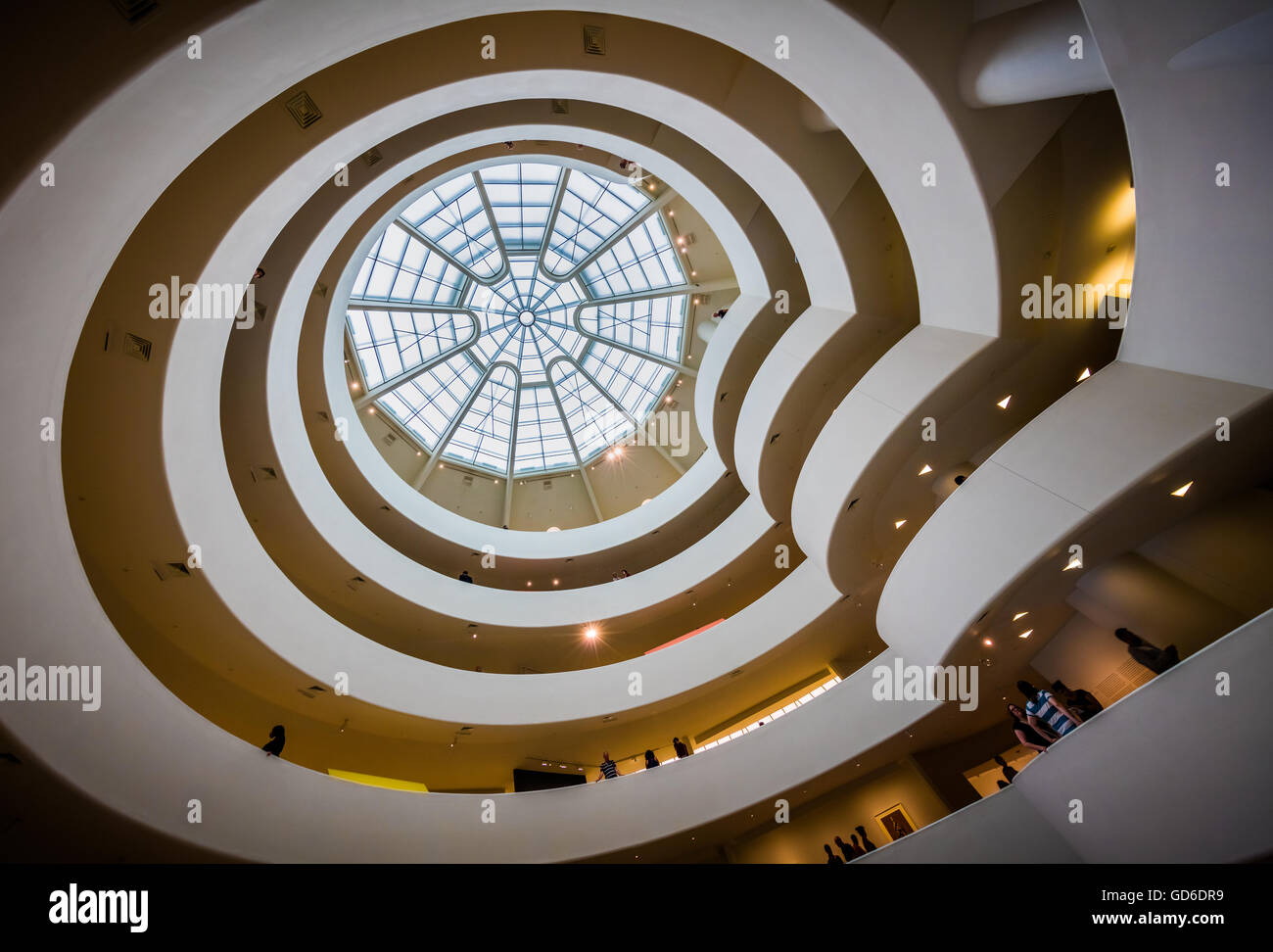 The Solomon R. Guggenheim Museum is an art museum located in New York City - Stock Image