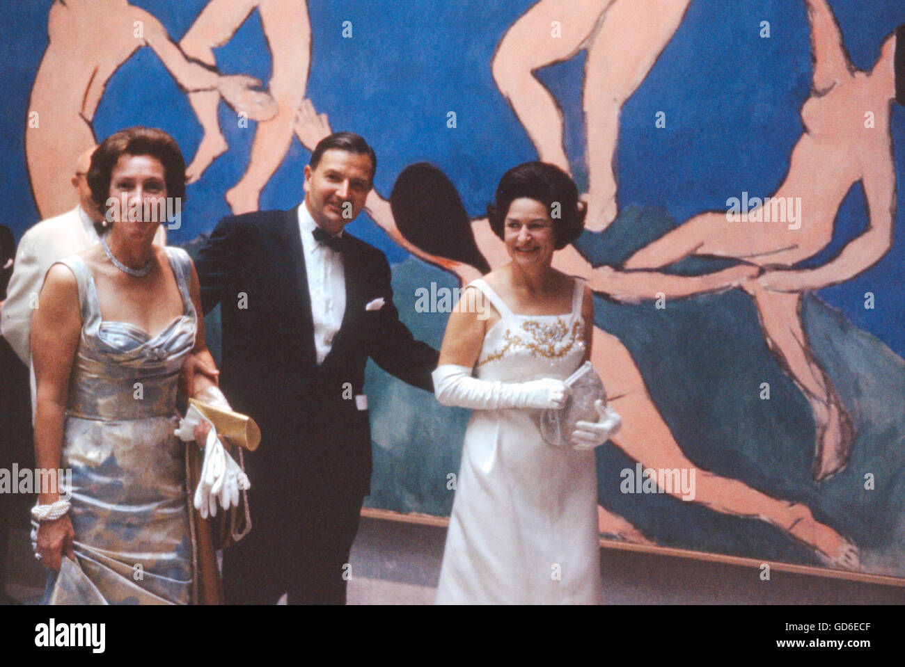 Lady Bird Johnson, David Rockefeller, and Peggy Rockefeller, - Stock Image