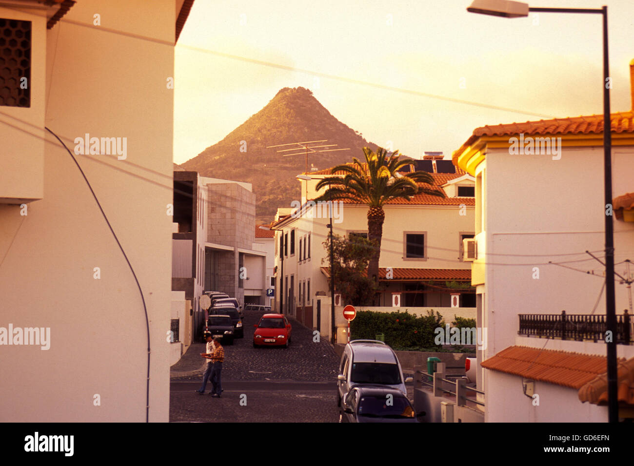 the Village on the Island of Porto Santo ot the Madeira Islands in the Atlantic Ocean of Portugal. - Stock Image