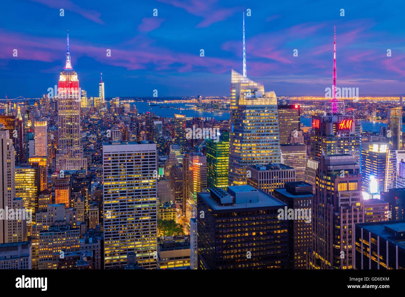 New York Skyline From Rockefeller Center Stock Photos New York